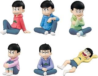 Palm Mate Puchi Osomatsu San Kun Yappa Parka wa Raku dayona! Hen 6 Collectable Trading Model Figure Kit Pack BOX Osomatsu Karamatsu Choromatsu Ichimatsu Jyushimatsu Todomatsu Matsuno MegaHouse