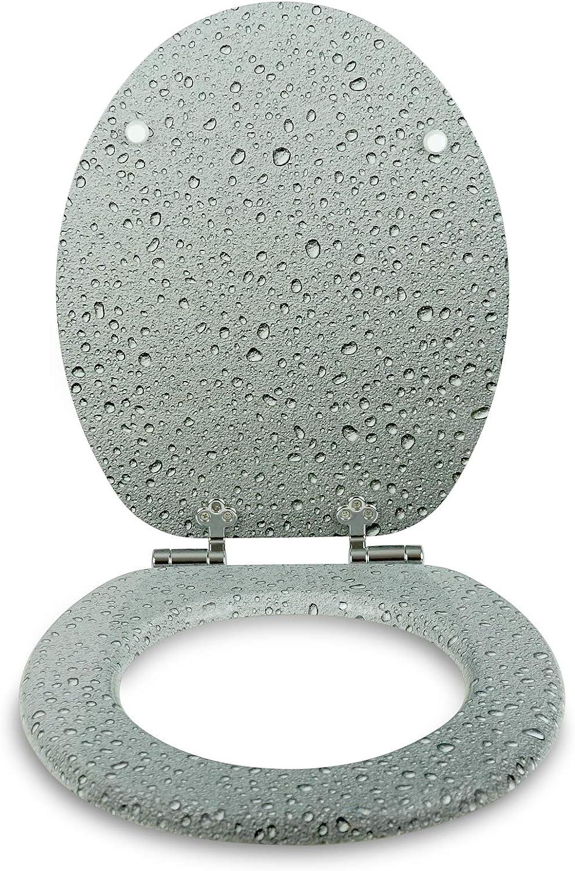 W1038C Asia II Tapa de WC con n/úcleo de madera con descenso autom/ático de Sanfino alta calidad y muchos motivos asiento c/ómodo montaje f/ácil con instrucciones incl