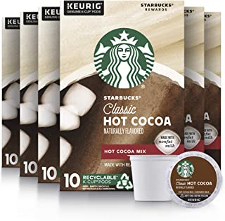 Starbucks Classic Hot Cocoa K-Cup for Keurig Brewers, 6 Boxes of 10 (60 Total K-Cup pods)