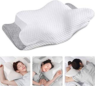 Sponsored Ad - ZAMAT Adjustable Cervical Memory Foam Pillow, Odorless Neck Pillows for Pain Relief, Orthopedic Contour Pillows for Sleeping with Cooling Pillowcase, Bed Support Pillow for Side, Back, Stomach Sleeper