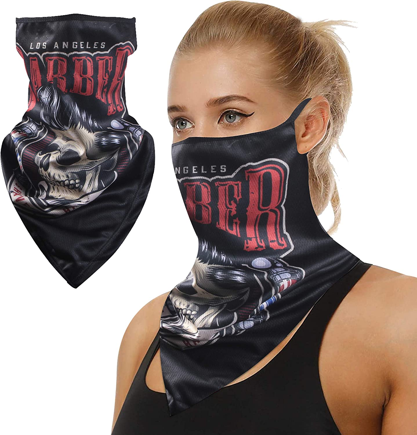 TJOY Neck Gaiter with Earloops Sun UV Protection Sports Face Mask 1 PCS