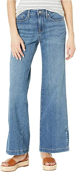 Petite Wide Leg Trouser w/ Side Slits in Rhodes