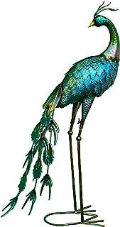 تمثال تزيين للحديقة من LeCrown قائم على هيئة طاووس للنماذج المعاصرة في الأماكن المغلقة والمفتوحة، وتماثيل الحديقة، ديكور ح...