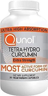 Qunol Turmeric Tetra-Hydro Curcumin 400mg, The Most Active Form of Curcuminoid, 95% Tetra-Hydro Curcuminoids, Anti-Inflamm...