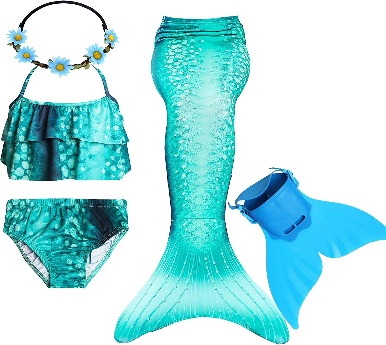 GALLDEALS Mermaid for Swimming Girls Se Swimsuit Princess Mail order cheap Max 42% OFF Bikini