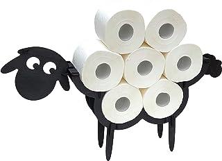 DanDiBo Toiletpapierhouder zwart hout schaap wc-rolhouder toiletpapierhouder staande toiletpapierhouder toiletrolhouder