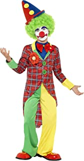 Smiffy Clown Costume, MultiColour, Clown Costume, Red with Jacket, Trousers, Mock Shirt & Bowtie, 44011M, Medium, Age 79, ...