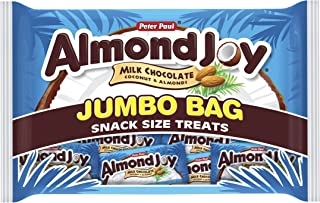 Almond Joy Snack Size Bars, 20.1-Ounce Jumbo Bags (Pack of 3)