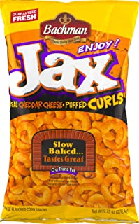 Bachman Jax Cheddar Cheese Puffed Curls 9.75 Oz (2 Bags)