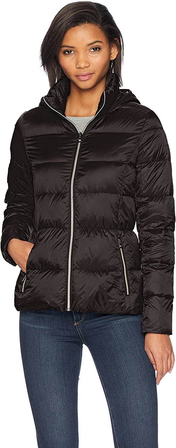 Lucky Brand Women's Short Lightweight Packable Down Coat Jacket