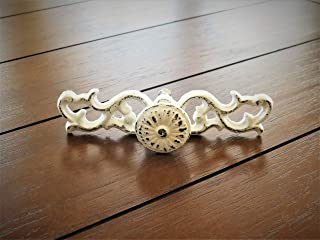 Shabby Chic Scrolled Drawer Pulls, Dresser Knobs, Antique White or Pick Color Handles
