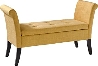 CorLiving Antonio Storage Bench, Yellow