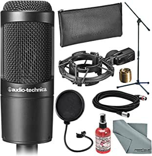 Audio-Technica AT2035 Cardioid Condenser Microphone and...