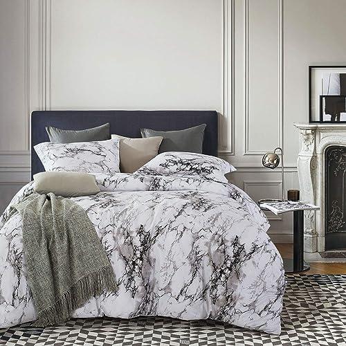 Grey White Modern Comforter Set Queen: Amazon.com