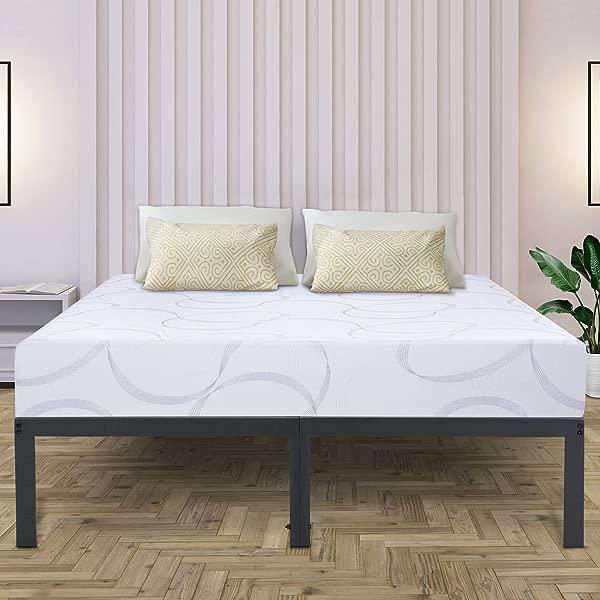 Olee Sleep VC14BX13F 14Inch Dura Metal Steel Slate Bed Frame Gray