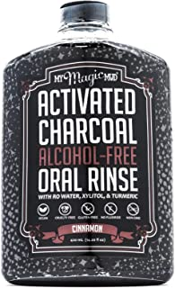 My Magic Mud - Activated Charcoal Oral Rinse, Freshens Breath, Soothes Mouth, Cinnamon, 420 ml