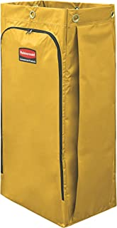 Rubbermaid Commercial High Capacity Cleaning Cart Bag, 34 Gallon, Yellow, 1966881