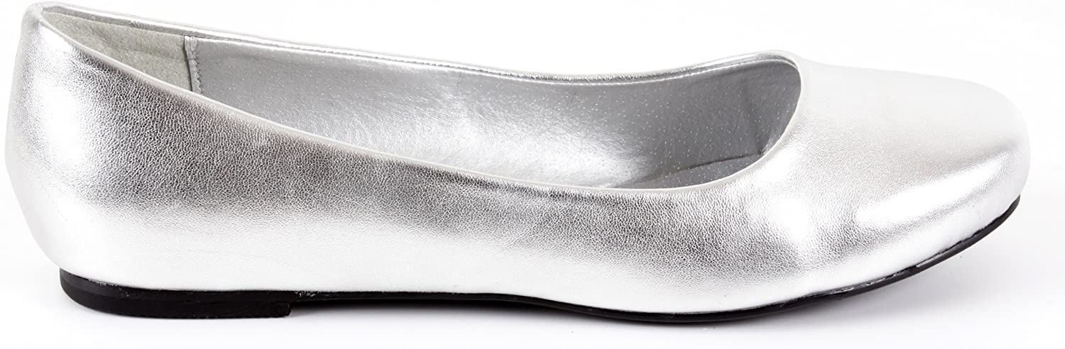 Andres Machado.AM539.Classic Ballerinas in Satin or Soft Leather.Big Sizes