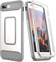 YOUMAKER Case for iPhone 8 Plus & iPhone 7 Plus, Full Body with Built-in Screen Protector Heavy Duty Protection Shockproof Slim Fit Cover for Apple iPhone 8 Plus (2017) 5.5 Inch - White