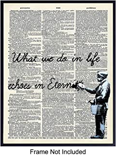 Inspirational Motivational Banksy Dictionary Art Print - Vintage Upcycled Graffiti Wall Art Poster- Chic Home Decor for Bedroom, Living Room, Kitchen, Office, Family Room - Gift for - 8x10 Unframed