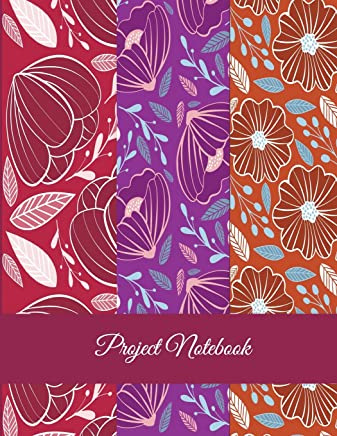 Project Notebook: Red Flowers Design, Project and Task Organization, Project Tracker Large Print 8.5 X 11 Project to Do List, Idea Notes, Project Budget Planner Project Management Notebook