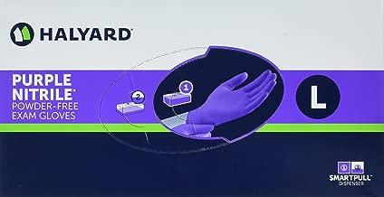 Haylard Health Purple Nitrile Exam Gloves, Large, 100 Count