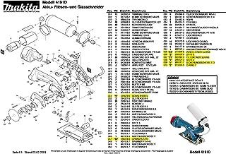 Makita 214019-5-4111 - Rodamiento de deslizamiento (4 unidades, pieza de repuesto original 4191 D)