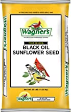 Wagner's 76027 Black Oil Sunflower Seed Wild Bird Food, 25-Pound Bag