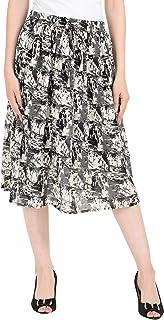 COTTON BREEZE Women's A-line Skirt Cream