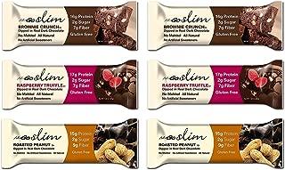 Nugo Bar Slim Variety Sampler Brownie Crunch, Raspberry Truffle, and Roasted Peanut, 2 bars of each flavor, 1.59 Ounces