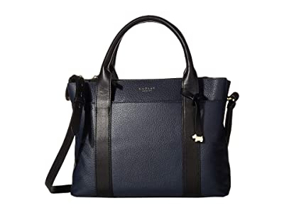 Radley London Maples Place Medium Zip Top Multiway (Ink) Satchel Handbags