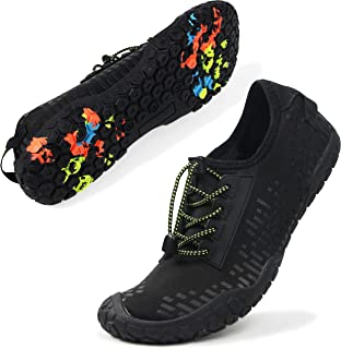 Oranginer Womens Quick Dry Water Shoes Breathable Athletic Shoes for Water Sports Outdoor Barefoot Sneakers Black Size 8.5