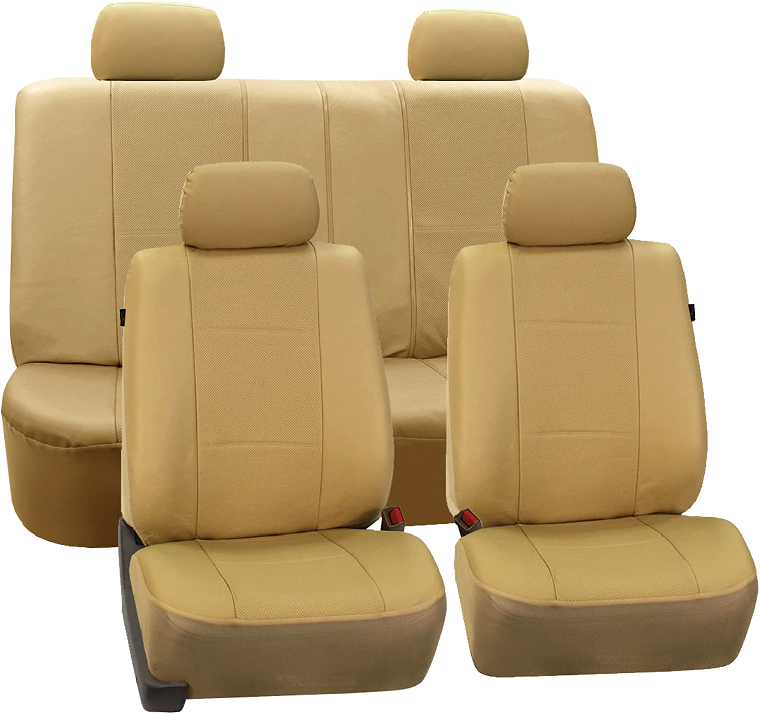 FH-PU007114 Deluxe San Francisco Mall Leatherette Car Seat Airbag unisex Ready Covers and