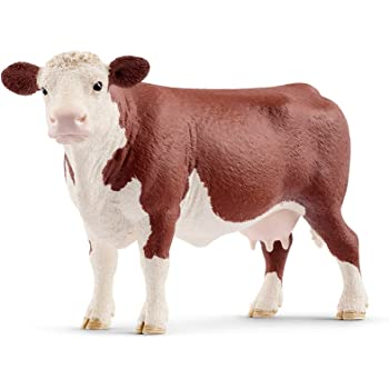 Animal Planet By Mojo Hereford Bull Kids Toy Collectable Figure **FREE DELIVERY*