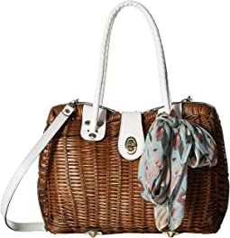 Lucena Wicker Satchel