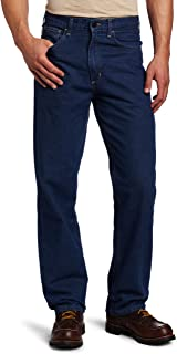 Carhartt Men's Flame Resistant Signature Denim Jean Relaxed Fit