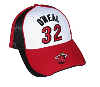 Genuine Merchandise Shaquille O'Neal #32 Miami Heat Adjustable One Size Fits Most Hat Cap - Team Colors