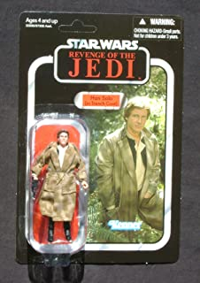 2011 SDCC Exclusive Star Wars Revenge of the Jedi Death Star Han Solo In Trenchcoat VC62 MOC
