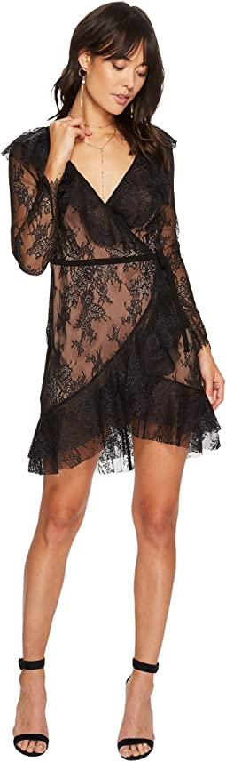 For Love and Lemons - Daphne Lace Wrap Dress