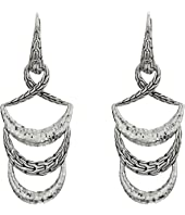 John Hardy - Classic Chain Hammered Drop Earrings
