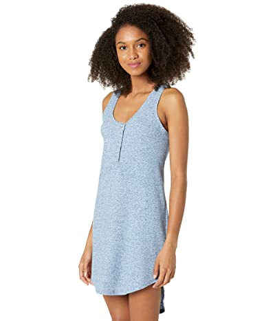 Chaser Linen Rib Double Scoop Shirttail Dress