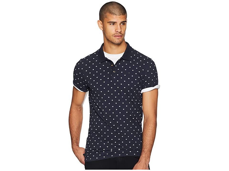 Scotch & Soda Classic Garment-Dyed Polo w/ All Over Print (Combo F) Men