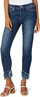 Liverpool Women's Crop Skinny with Double Fray Hem High Performance Denim Jeans