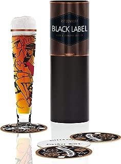 Ritzenhoff Black Label Beer, Beer Glass with Mats, 300ml, Markus Binz, 1010217