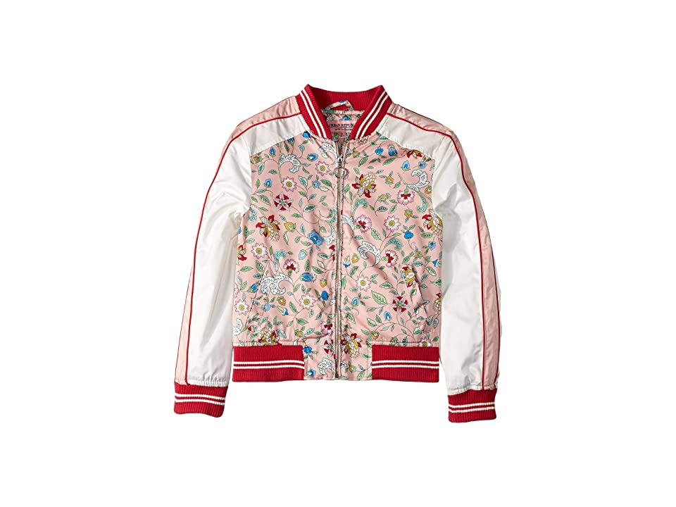 Urban Republic Kids Sateen Color Block Bomber (Little Kids/Big Kids) (Floral Print) Girl