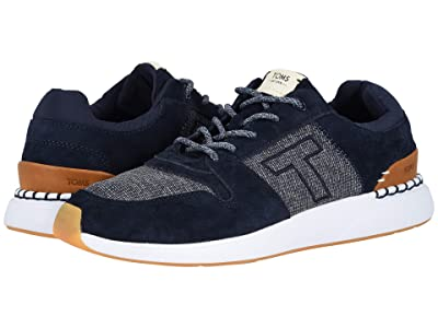 TOMS Arroyo (Navy Pig Suede/Mini Jersey Stripe Mix) Men