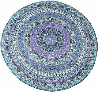 RuiWing Indian Mandala Round Roundie Beach Throw Chiffon Tapestry Hippy Boho Gypsy Tablecloth Beach
