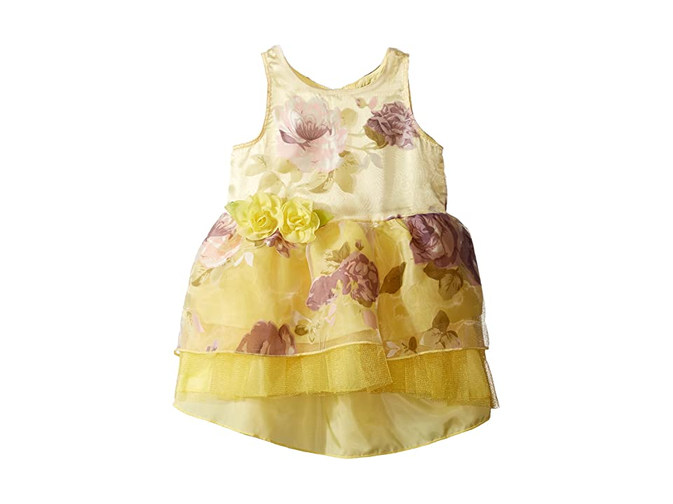 Nanette Lepore Kids Printed Organza w/ Tulle Dress (Infant) (Yellow) Girl