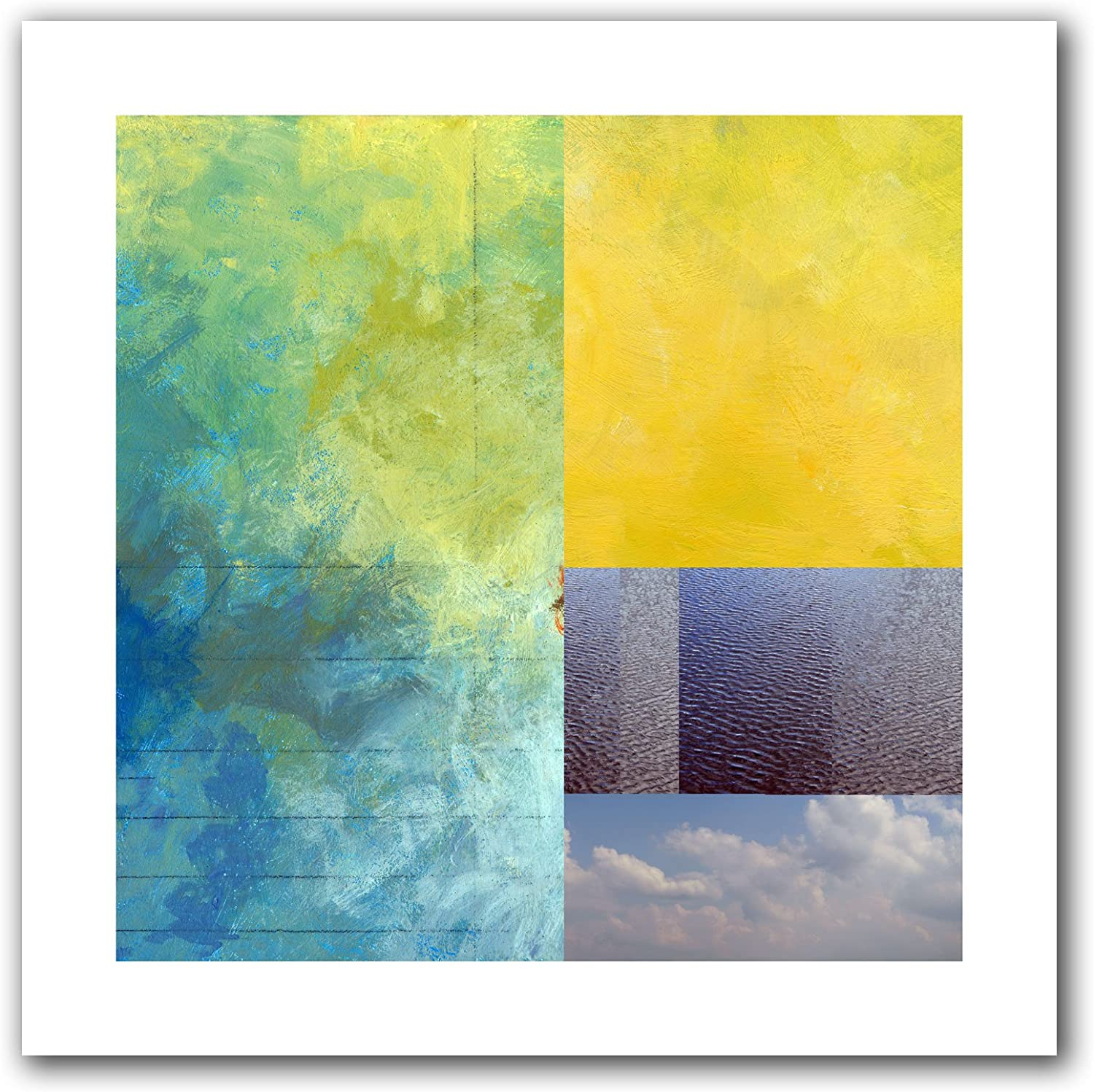 Art Wall Earth Textures Squares I Unwrapped Canvas Art by Jan Weiss, 22 by 22-Inch