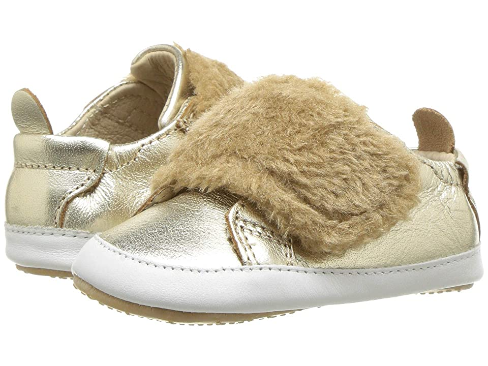 Old Soles Bambini Pet (Infant/Toddler) (Gold/Snow/Natural) Girl